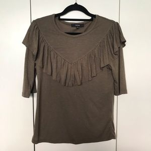 Piper Top Size XS Olive Green Size 6 Front Detail